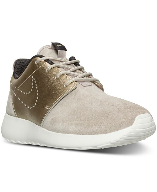 a403bfa5fc2bb Nike Women s Roshe One Premium Suede Casual Sneakers from Finish ...