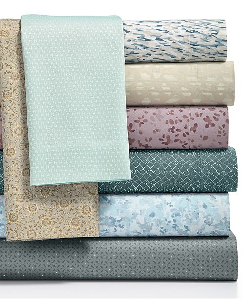 Calvin Klein 300 Thread Count Cotton Sateen Printed Sheet Sets