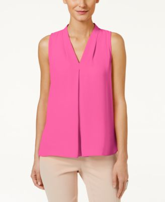 Image of Vince Camuto Inverted-Pleat Blouse