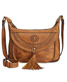 Patricia Nash Distressed Leather Camila Crossbody