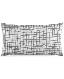 "Hotel Collection Modern Plaid 14"" x 26"" Decorative Pillow, Created for Macy's"