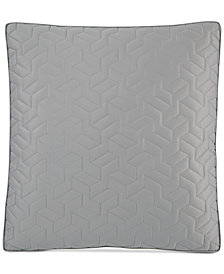 Hotel Collection Cubist Quilted European Sham, Created for Macy's