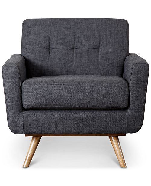 Abbyson Living Heleen Tufted Fabric Armchair, Quick Ship