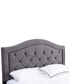 Edwyn King/California King Tufted Velvet Headboard, Quick Ship