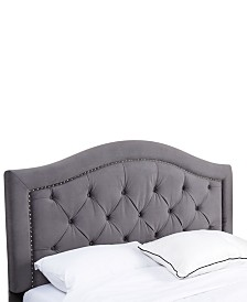 Edwyn Full/Queen Tufted Velvet Headboard, Direct Ship