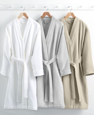 hotel collection waffle weave robe 100 turkish cotton created for macyu0027s - Terry Cloth Robe