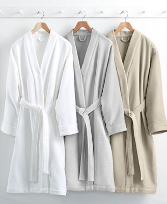 Hotel Collection Waffle Weave Robe, 100% Turkish Cotton, Created ...