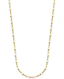 "Giani Bernini 20"" Square Bead Fancy Link Chain Necklace in 18k Gold-Plated Sterling Silver, Created for Macy's"