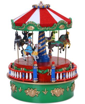 Mr. Christmas Mini Carnival Carousel Music Box - Holiday Lane ...