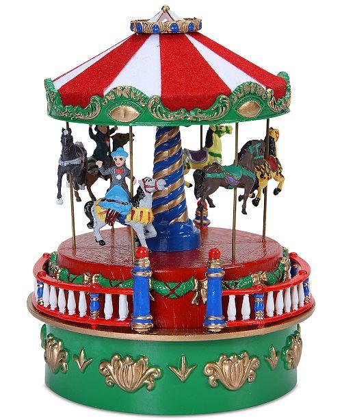 Mr Christmas Carousel.Mini Carnival Carousel Music Box