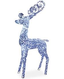"""60"""" Crystal Deer with 210 LED Lights"""