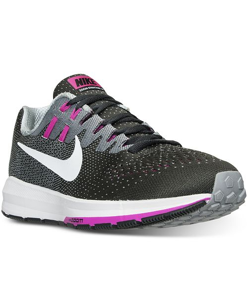654013895c04c Nike Women s Air Zoom Structure 20 Running Sneakers from Finish Line ...
