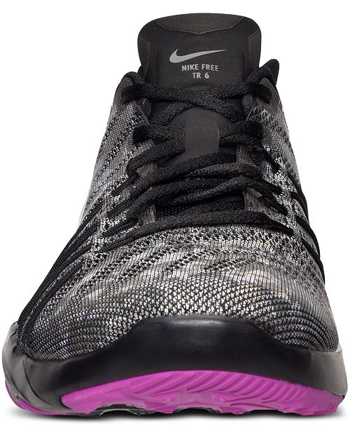 competitive price e2d2a e6387 ... Nike Women s Free TR 6 Metallic Training Sneakers from Finish ...