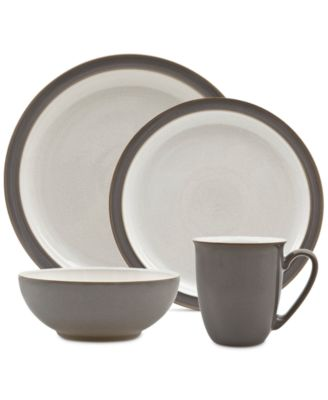 4-Pc. Truffle/Canvas Blend Dinnerware Set