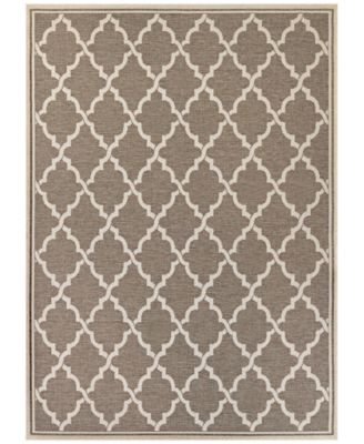 "Monaco Indoor/Outdoor Ocean Port 3'9"" x 5'5"" Area Rug"