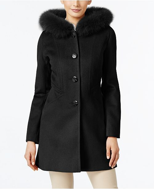 bdffd5ae920 ... Forecaster Fox-Fur-Trim Hooded Walker Coat