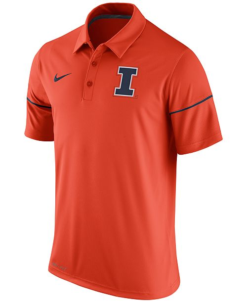 Nike Men's Illinois Fighting Illini Team Issue Polo Shirt