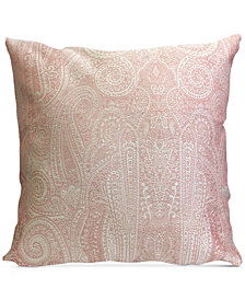 "Homewear Heather Paisley 20"" Square Decorative Pillow"