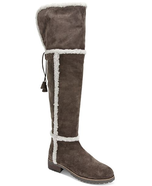 6f04d327f2e Frye Women s Tamara Shearling Over-The-Knee Boots   Reviews - Boots ...