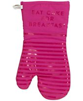 "kate spade new york ""Eat Cake for Breakfast"" Diner Stripe Oven Mitt"