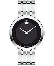 Movado Men's Swiss Esperanza Stainless Steel Bracelet Watch 39mm 0607057