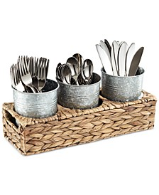 4-Pc. Masonware Garden Terrace Flatware Caddy