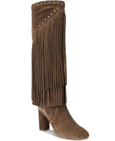 INC International Concepts Women's Tolla Tall Fringe Boots, Only ...