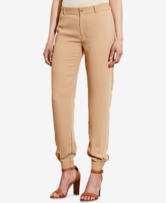 Lauren Ralph Lauren Crepe Tapered-Leg Pants