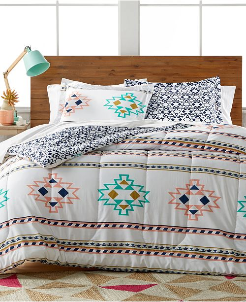 Pem America CLOSEOUT! Harper 3-Pc. Reversible Comforter Set, Created for Macy's