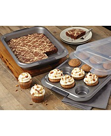 Advanced Non-Stick 3-Pc. Bakeware Set with Lid