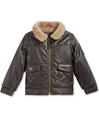 Hawke & Co. Outfitter Baby Boys' Faux Leather Bomber