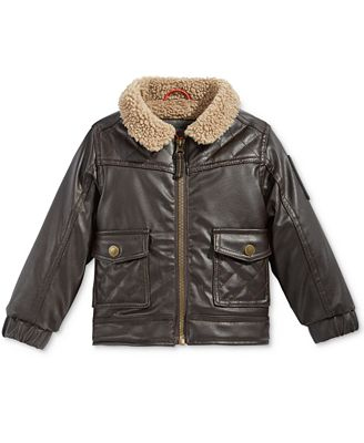 Hawke & Co. Outfitter Baby Boys' Faux Leather Bomber Jacket ...