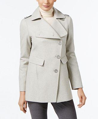 Kenneth Cole Asymmetrical Walker Coat