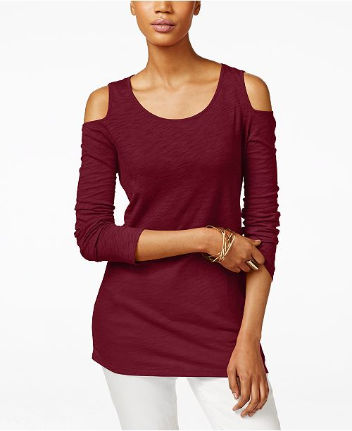 INC International Concepts I.N.C. Cold-Shoulder Top, Created for Macy's