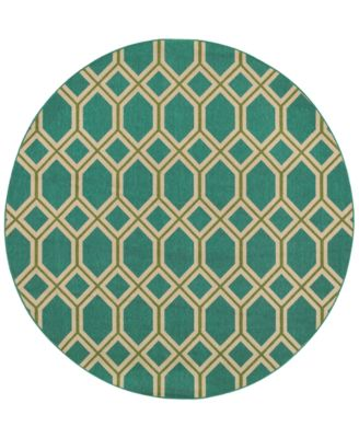"Seaside Indoor/Outdoor 6660 7' 10"" Round Area Rug"