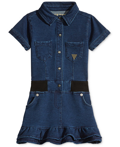 GUESS' Denim-Look Dress, Little Girls (2-6X)