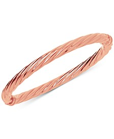 Twist Hinge Bangle Bracelet in 14k Rose Gold