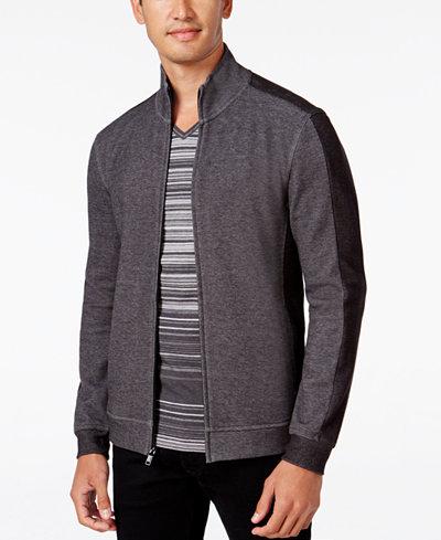Alfani Men's Mock Collar Two-Tone Zipper Jacket, Created for Macy's,