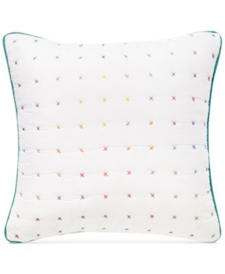 "CLOSEOUT! Kalkan Cross Stitch 18"" Square Decorative Pillow"