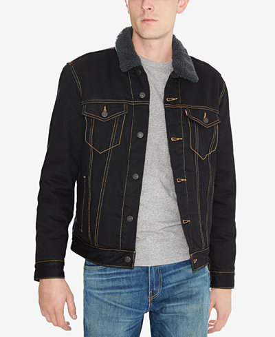 levi 39 s sherpa trucker jacket coats jackets men macy 39 s. Black Bedroom Furniture Sets. Home Design Ideas