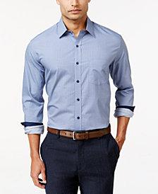 Tasso Elba Tonal Foulard Print Shirt, Created for Macy's