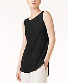 Eileen Fisher SYSTEM Silk High-Low Tunic, Regular & Petite