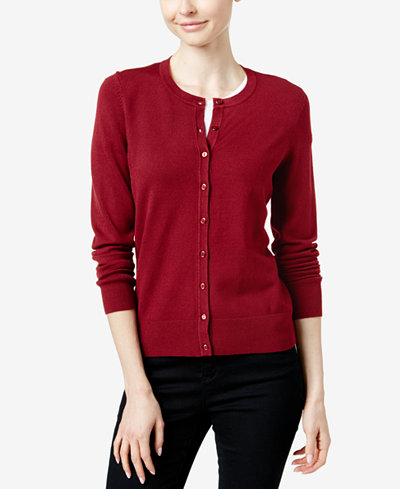 Charter Club Crew-Neck Cardigan, Created for Macy's