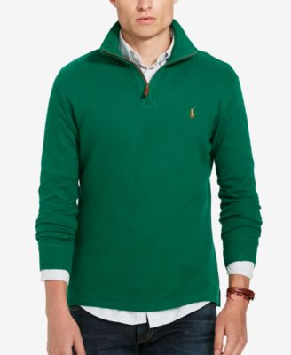 Polo Ralph Lauren Men\u0027s Estate Rib Half Zip Sweater
