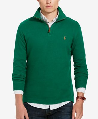 Polo Ralph Lauren Men's Estate Rib Half Zip Sweater - Sweaters ...