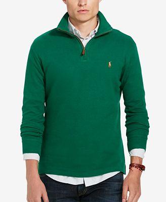 Polo Ralph Lauren Mens Estate Rib Half Zip Sweater Sweaters Men
