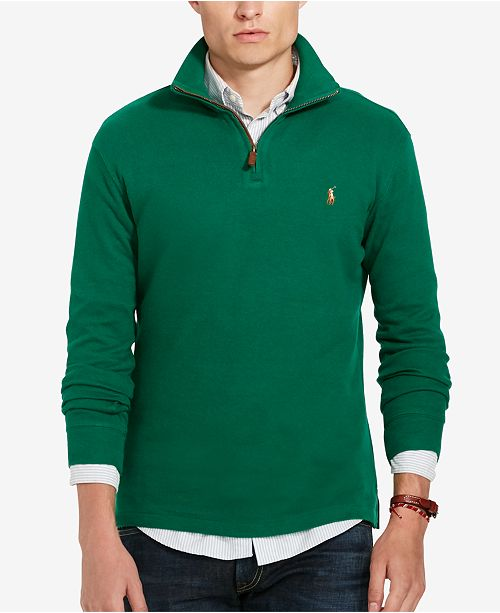 Men's Clothing Polo Ralph Lauren Green Button Up Sweater