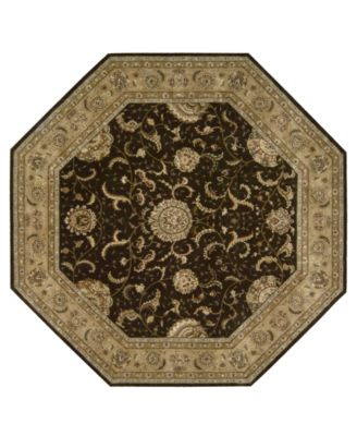 Area Rug, Nourison 2000 2206 Brown 10' Octagon