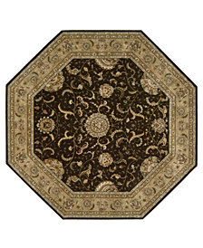 Nourison Area Rug, Nourison 2000 2206 Brown 10' Octagon