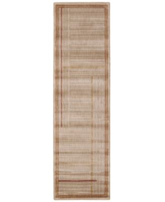 "CLOSEOUT! Area Rug, Somerset ST17 Lines Gold 2' 3"" x 8' Runner Rug"